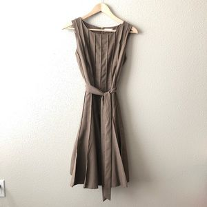 Calvin Klein Pleated Dress w/ Waist Tie